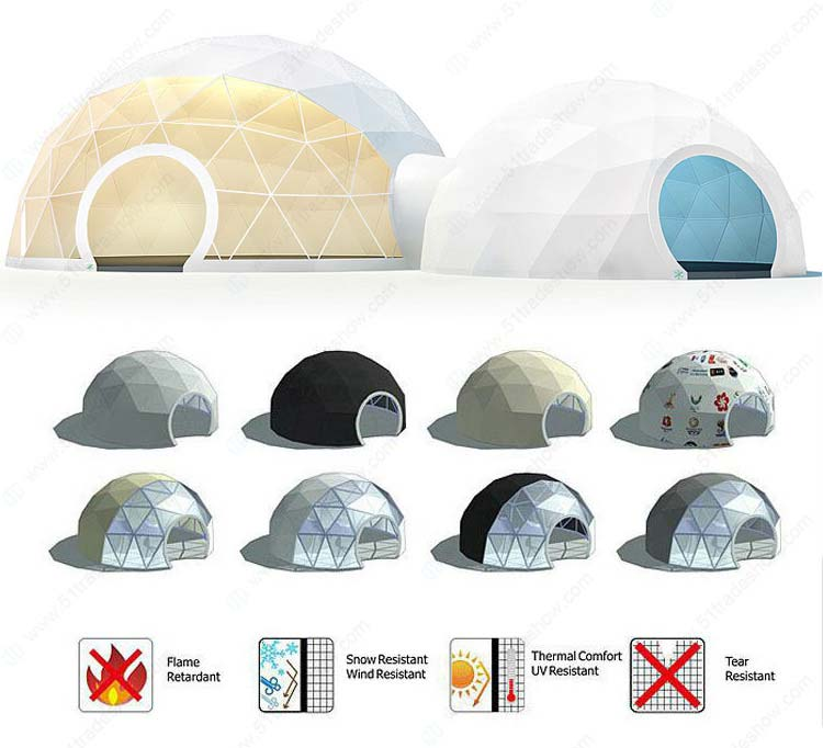 geodesic dome tent for outdoor events