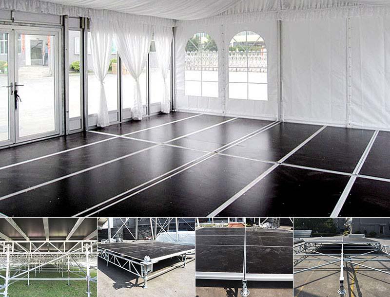 cassette flooring system for tent