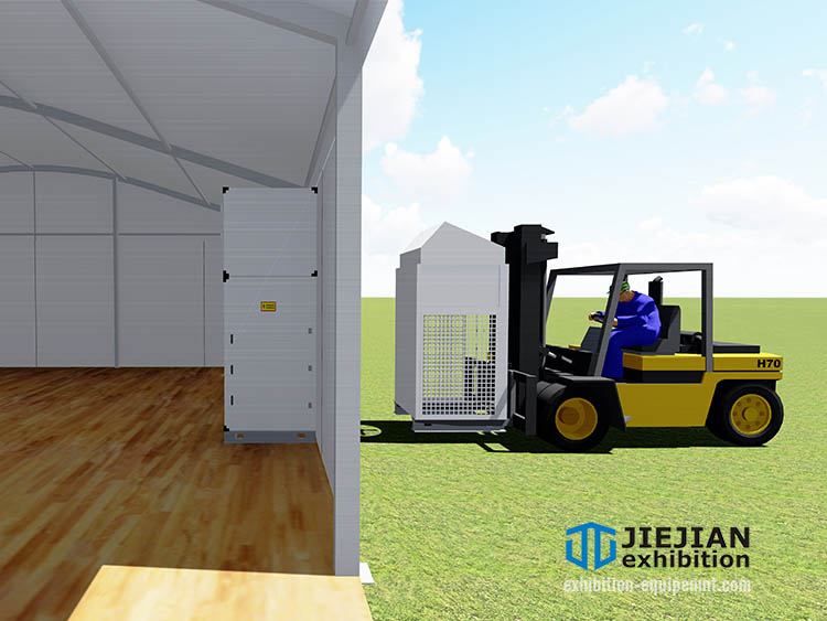 install tent ac unit with forklift (3)