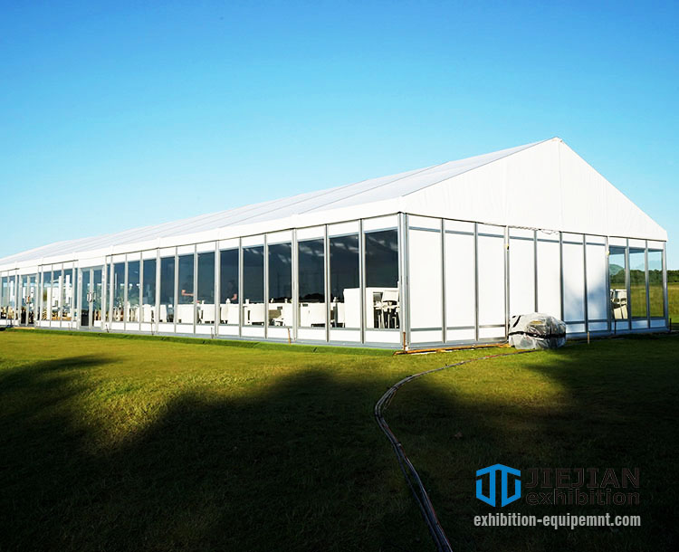 A shape clear span tents