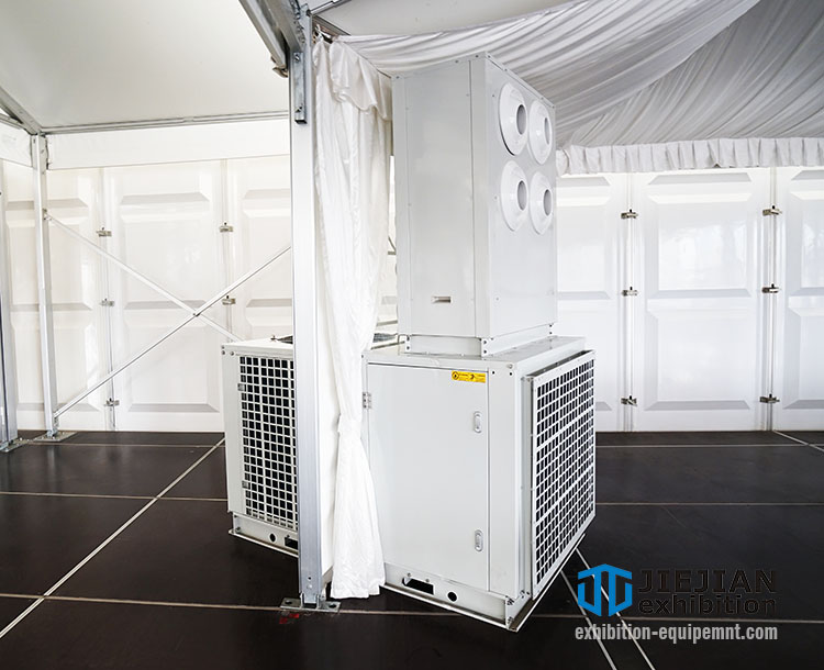 outdoor wedding tent aircon