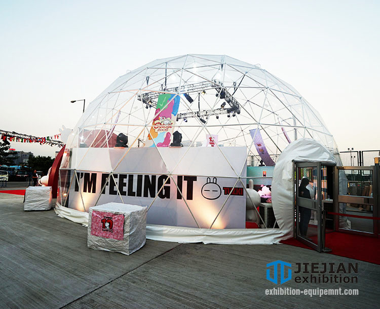 transparent geo event dome tent