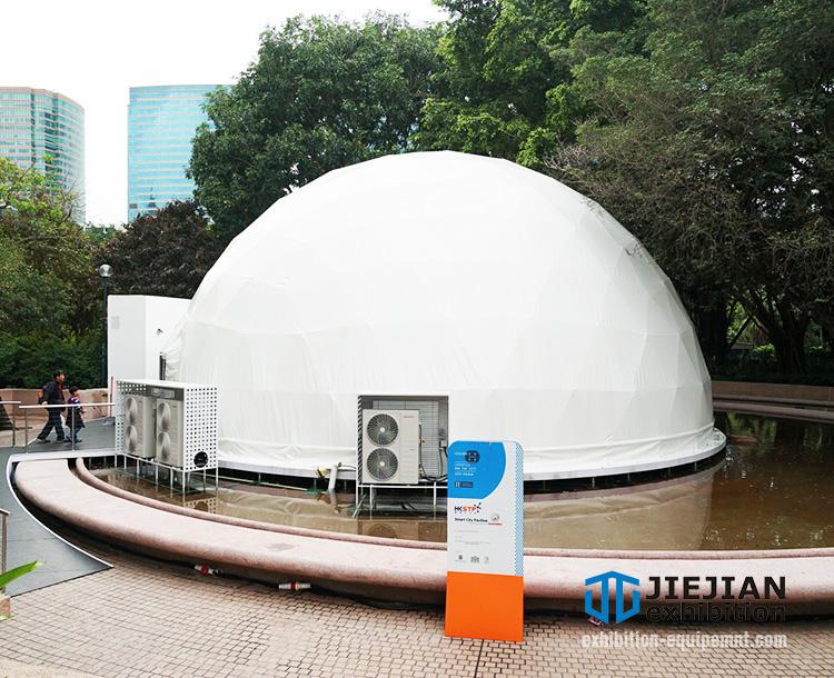 white pvc geo dome tent